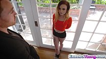 Blonde Chloe fucked in her tight ass