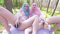 Elves loves big BadDragon dildo in pussy cute young girl