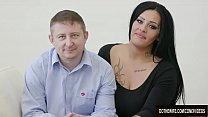 Swinger slut Ashley Cumstar fucked in front of husband