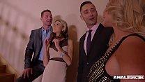 Anal inspectors watch blondies Gina & Rachele Richey ass fucked on Xmas