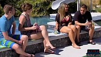 Amateur couple are swingers who want to do a full swap