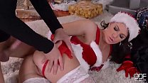Mrs. Santa gets her fill of cock on X-mas eve