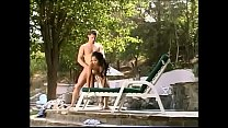 White stud creams young face of Filipino peacherino Sabrine Maui after banging her wet pussy in the chaise-longue