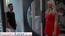 Naughty America London River fucks son's friend before interview