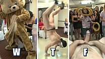 DANCING BEAR - The Bride To Be And Her Slutty Friends At CFNM Blowbang