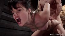 Brunette trainee fucked in gaping ass