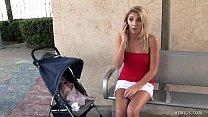 petite blond cheerleader gets jizzed inside