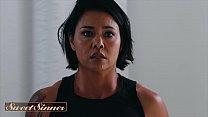 Asian milf (Dana Vespoli) rides inked stud (Small Hands) - Sweet Sinner
