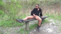 Ebony babe Michelles public flashing and black cuties outdoor masturbation