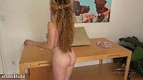Leona strokes her luscious bush for you