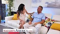 Naughty America - Tia Cyrus fucks with her big tits