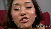 POV Asian teen hooker craving for a big load gives hardcore tugjob