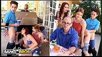 BANGBROS - 4th Of July Threesome With Monique Alexander, Adria Rae & Juan El Caballo Loco