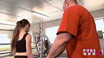 Tiny Australian bangs her gym instructor