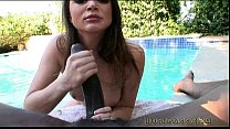 Tori Black gives some poolside head!
