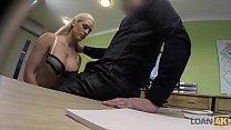 LOAN4K. Absolutely gorgeous blonde girl Blanche has wonderful sex for cash