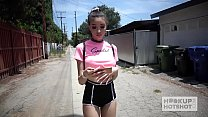 Pretty teen babe Scarlett Bloom gets used up by Bryan Gozzling