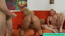 Blonde stepsister fucking stepbros cock
