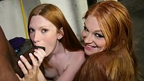 Two Hot Redhead Teens Fuck Janitor's BBC (Amelia Rose, Ginger Rayles)