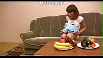 Russian group sex of a young couple with mature