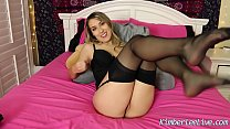 Kimber Lee Makes You Cum in Her Nylon Stockings!