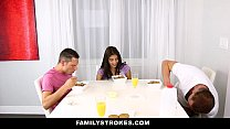 FamilyStrokes - My Stepsister (Michelle Martinez) Fucked My Dad and I