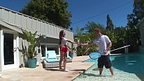 DON'T FUCK MY DAUGHTER - Latin Teen Nina North Fucks Pool Man Bill Bailey
