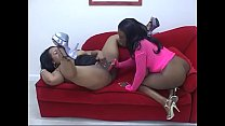Juggy ebony lesbians with huge asses Lola Lane and XXXplosive plays with toys and cunts