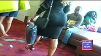 Bubble Butt in Black Skirt in Public !!!   ATLANTA24HOURS.COM