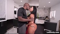 Fat ass latina MILF PAWG gets anal interracial fucked