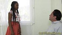 Ebony stepteen facialized