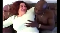 BBW Grandma Anal with BBC Condom to Bare - Interracial Video