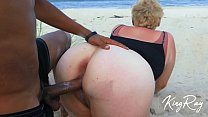 Blonde Sucks & Fucks BBC On Public Beach (@xKingRay)