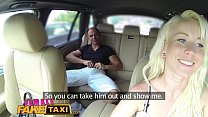 Fake Female Taxi Creampie internal payment for sexy blonde driver