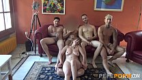 Lydia fulfills her fantasy: GANGBANGED BY 4 YOUNG DICKS!