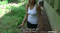 Bitch STOP - Horny nympho fucked outdoors