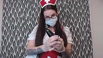 Preview Clip Hot Tattooed BBW Nurse Gives Good Femdom Anal