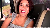 Asian MILF First Gloryhole Blowjob and Interview
