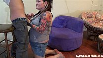 Mind Control Blowjob w/ BBW Pierced Tattooed Slut  - Behind the Scenes Camera