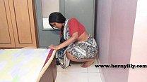 Indian maid with no panties