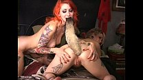 Tattooed cuties' painful anal w foxtail plug-Full widescreen HD now on RED