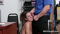 Sad MILF Forced Fucked By Cop After Stealing