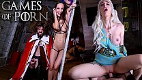 Sexy blonde Daenerys fucked by Dick of the North and licked by two nude slaves who want to eat fresh cum - porn parody from Jean-Marie Corda