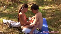 hot young girl with small tits and young boyfriend
