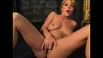 Fellow becomes lusty when he watches gorgeous blonde beauty playing with dildo