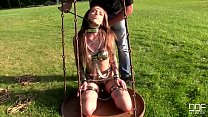 Submissive Russian fairies Caged and Ass Fucked by Long Black Cock
