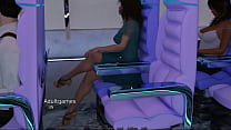 Blowjob in airplane bathroom by a stranger sexy girl - Secrets Porn Game