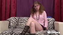 Ugly Amateur In Pigtails Fingers Her Twat