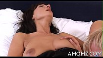 Soaked mature pussy receives spoiled