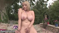 All Natural Maggie Green Masturbates Outside!